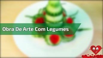 Obra De Arte Com Legumes, Confira Que Trabalho Incrível E Belo!