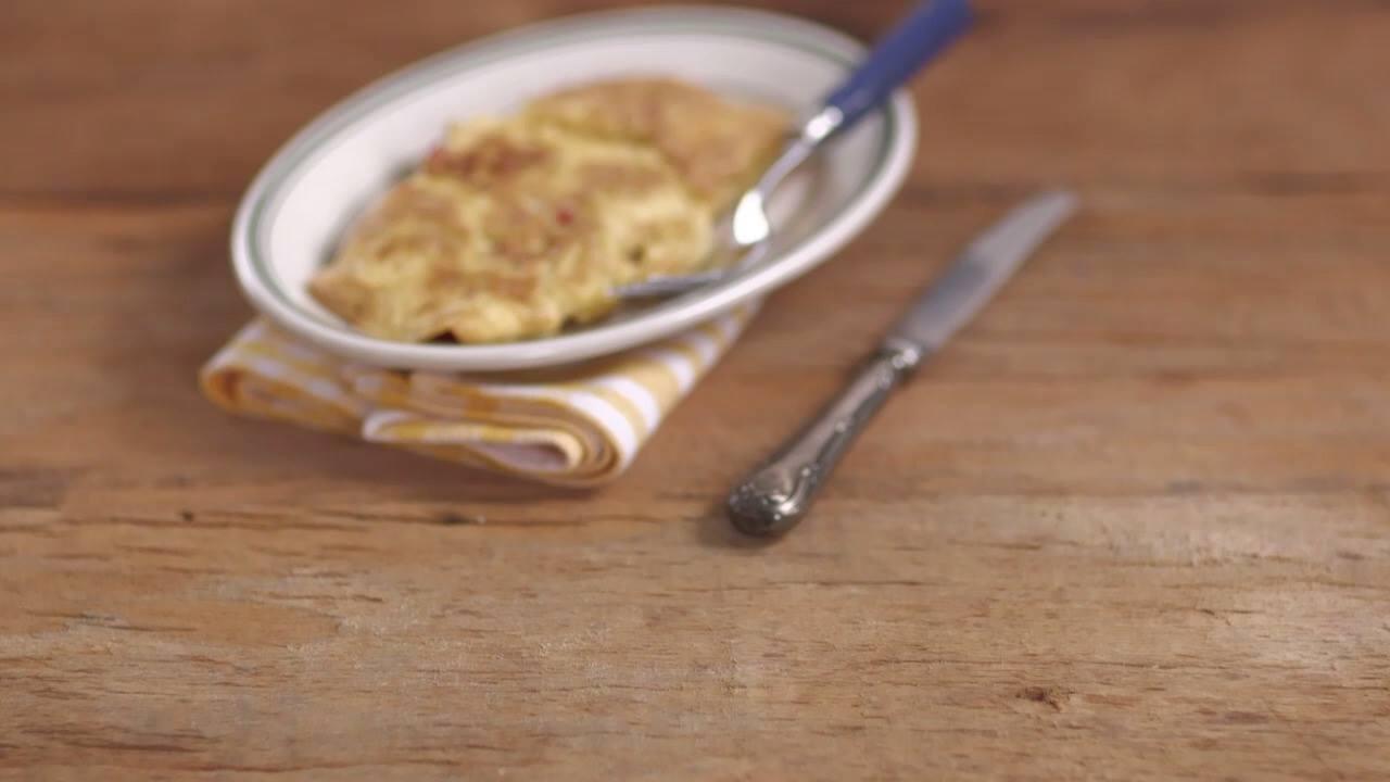 Omelete com Refogado de Pimentão