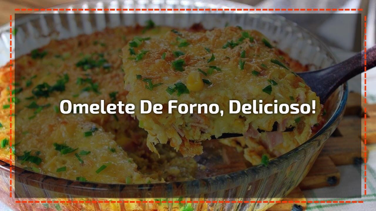 Omelete de forno, delicioso!