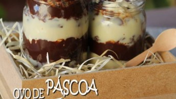 Ovo De Páscoa De Pote - Com Trufa De Chocolate Branco E Ao Leite!