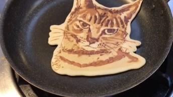 Panquecas Com Formatos De Gatinhos, Uma Obra De Arte No Café Da Manhã!