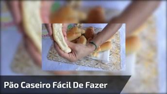 Pão Caseiro Fácil De Fazer, Um Vídeo Muito Fácil De Entender!