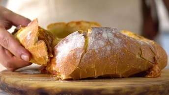 Pão Italiano Com Recheio De Pizza, Que Receita Maravilhosa. . .