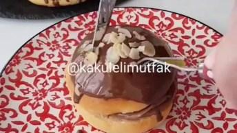 Pão Recheado Com Trufa De Chocolate, Uma Ideia De Sobremesa Deliciosa!