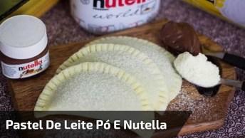 Pastelzinho De Leite Ninho Com Nutella, Um Sonho De Docinho!