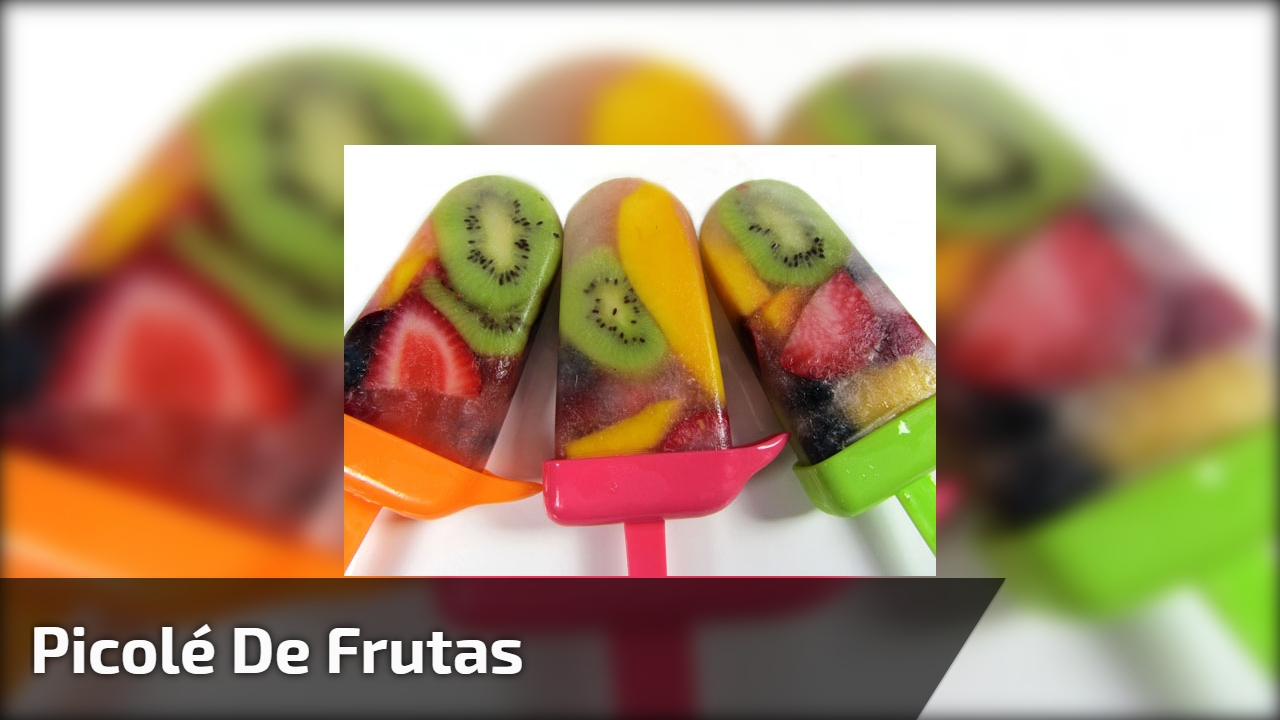 Picolé de frutas