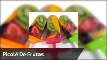 Picolé De Fruta Com Água De Coco, Uma Ideia Saudável E Que Refresca!