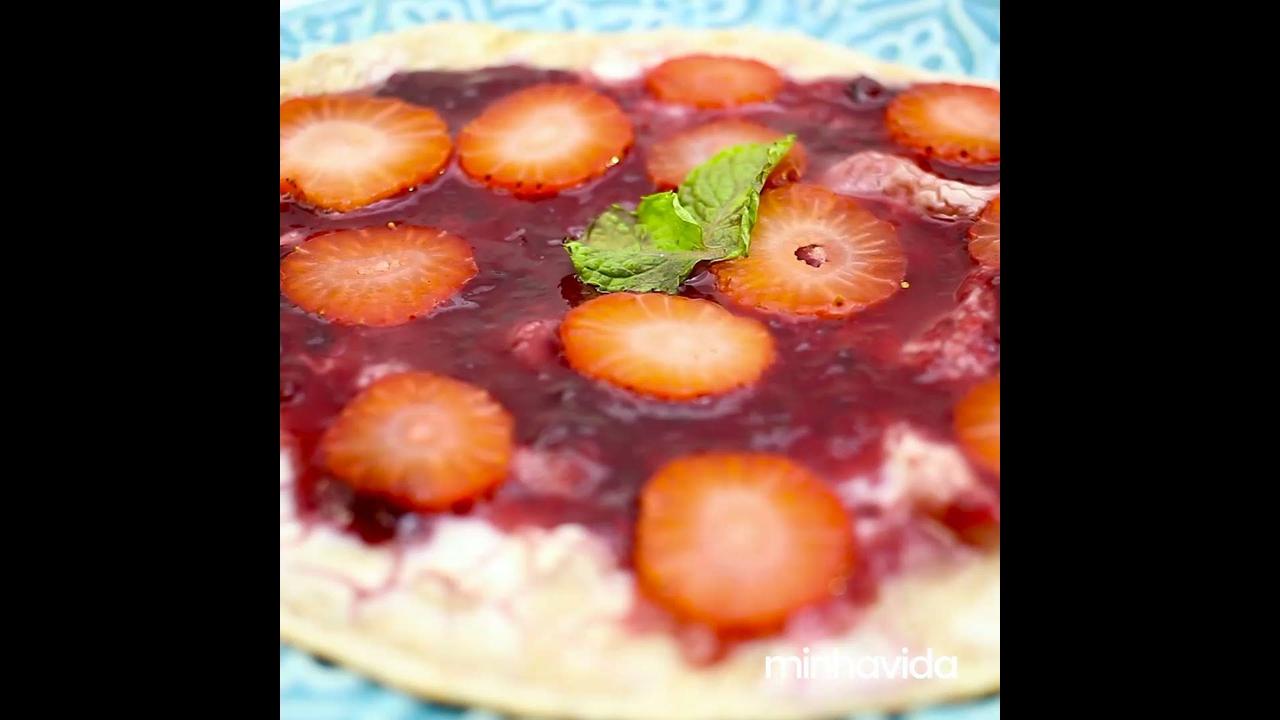 Pizza Doce de Cheesecake