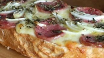 Pizza No Pão, Uma Receita Fácil E Rápida De Preparar, Confira!