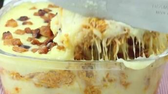 Purê De Batata Com Frango E Bacon Na Travessa, Simplesmente Uma Delicia!