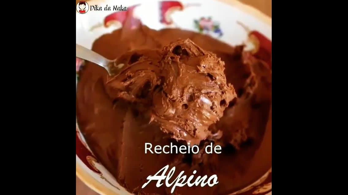 Receio de chocolate Alpino para bolos