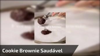 Receita Cookie Brownie Saudável, Fica Uma Delicia, Confira!