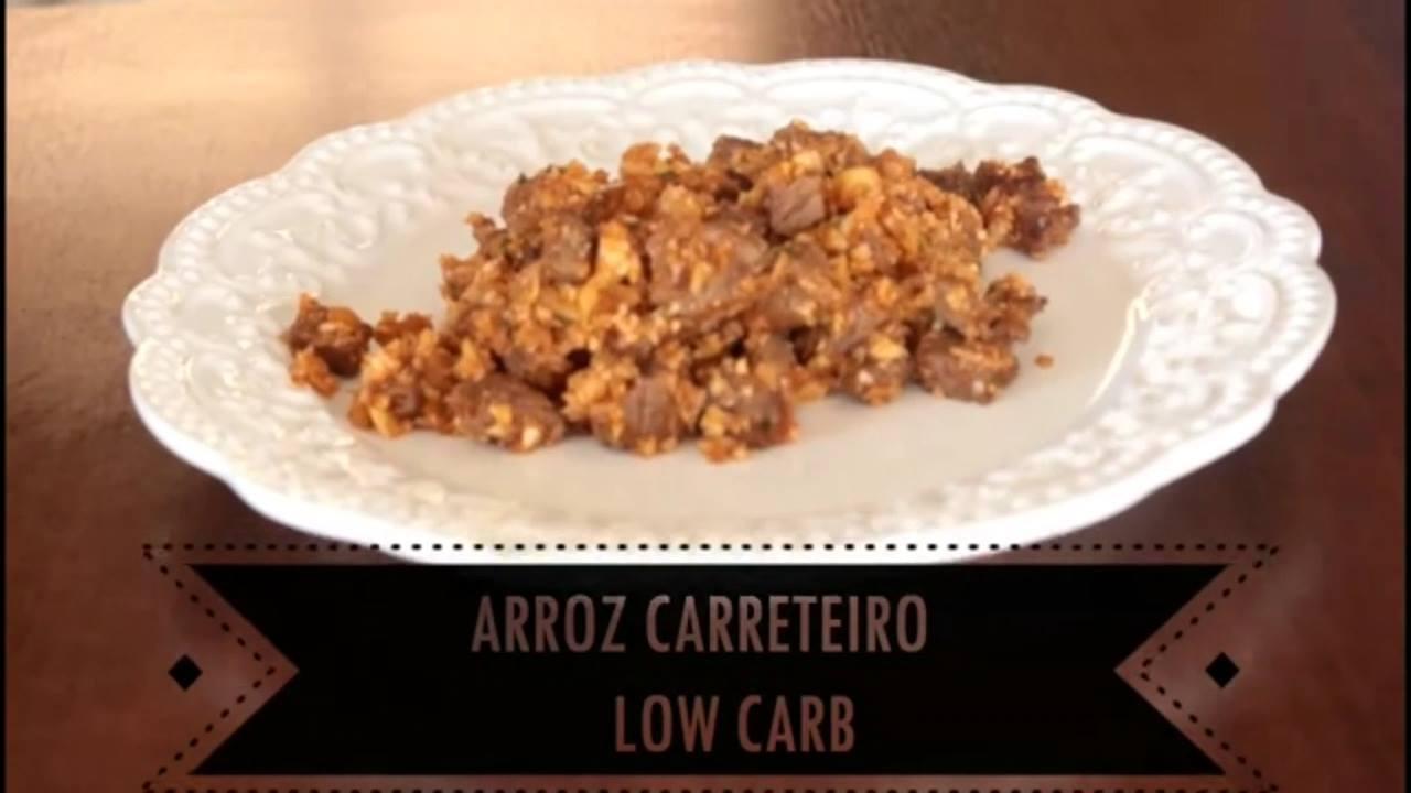 Receita de arroz carreteiro low carb, fácil de fazer, uma delicia de comer!!!