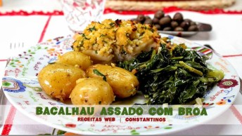 Receita De Bacalhau Assado Com Broa Para Páscoa, Olha Só Que Delicia!