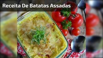 Receita De Batatas Assadas Com Parmesão, Perfeito Para Almoço De Domingo!