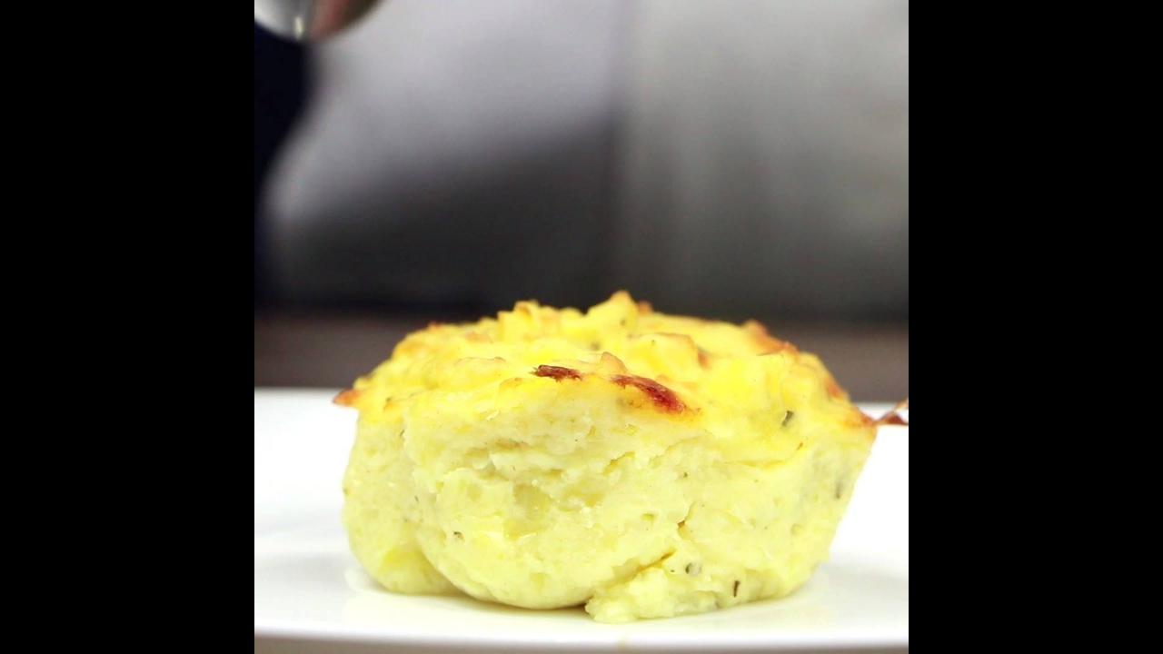 Receita de bolinho assado de batata