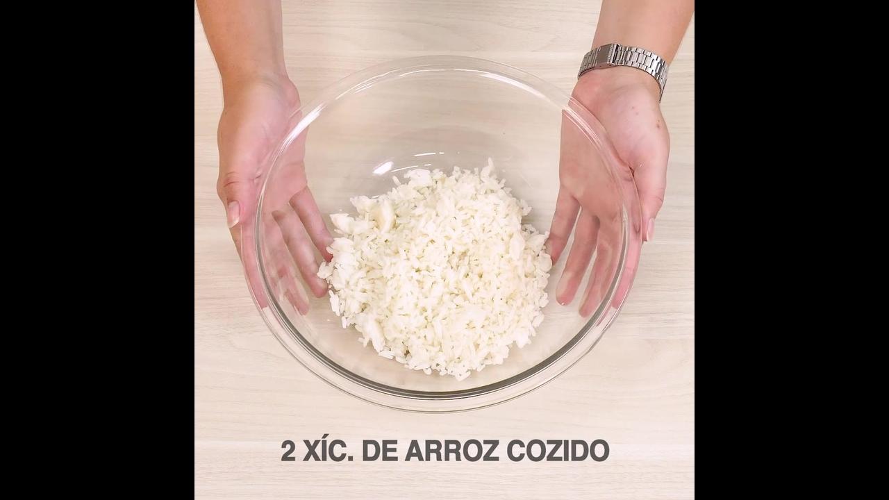 Receita de bolinho de arroz