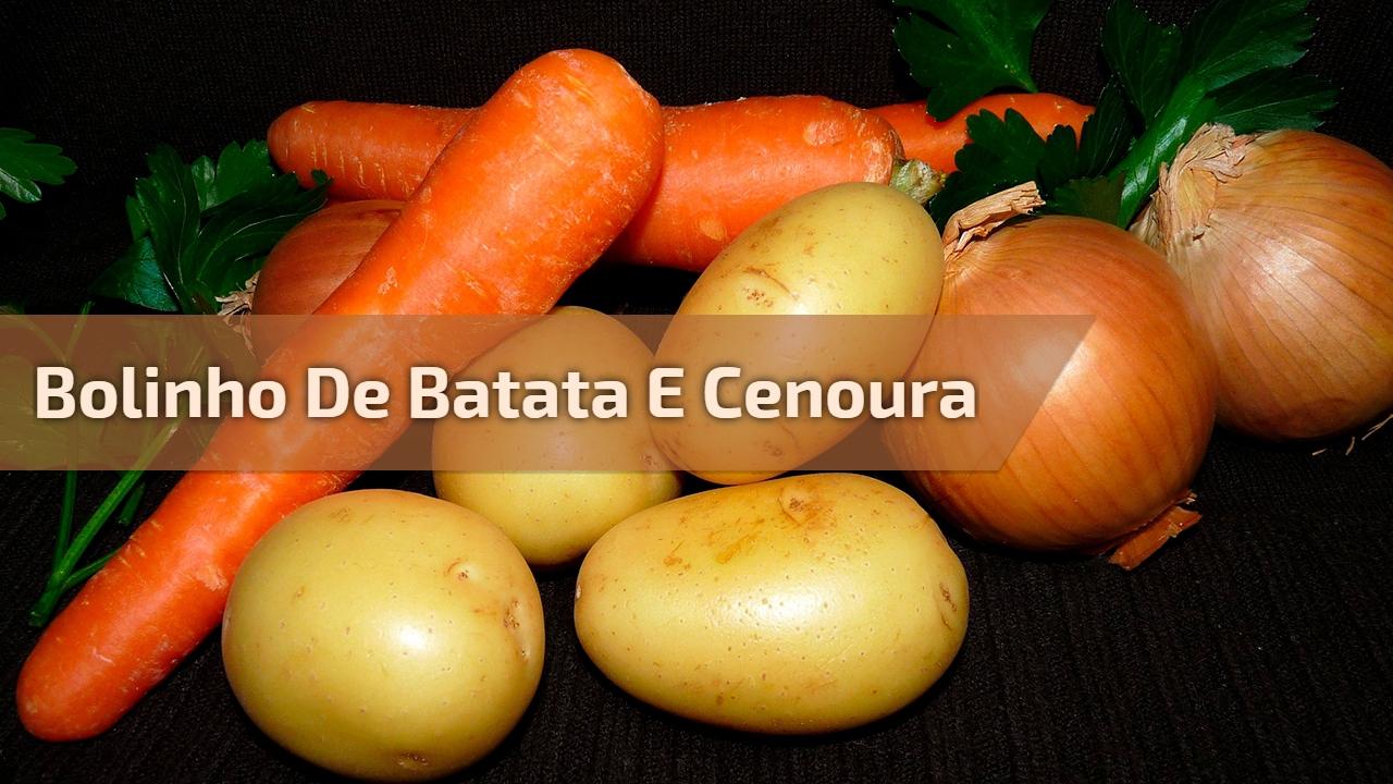 Bolinho de batata e cenoura