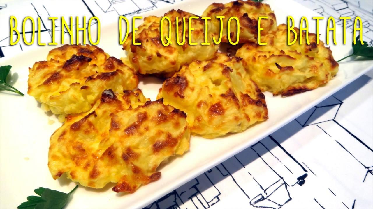 Receita de bolinho de queijo e batata com apenas 4 ingredientes