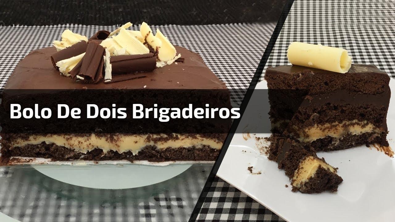 Receita de bolo de 2 brigadeiros, uma maravilha de receita, confira!!!