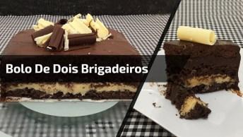 Receita De Bolo De 2 Brigadeiros, Uma Maravilha De Receita, Confira!