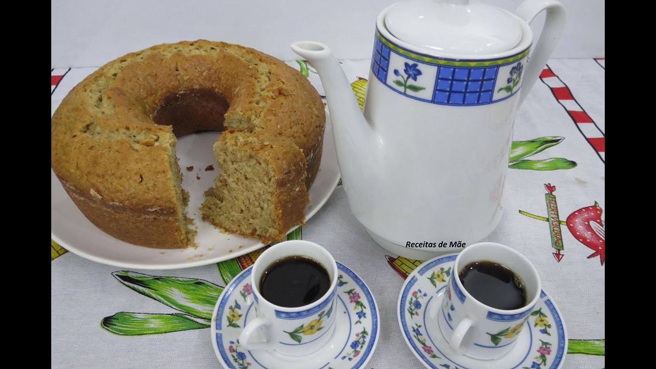Receita de bolo de abobrinha
