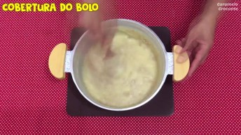 Receita De Bolo De Amendoim Com Brigadeiro De Paçoca, Fica Uma Delicia!