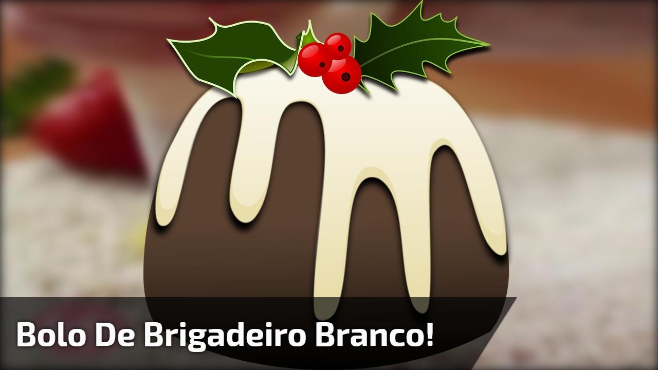 Receita de Bolo de Brigadeiro Branco com Morango, uma delícia!