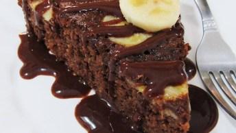 Receita De Bolo De Chocolate Com Banana, Uma Combinação Perfeita!
