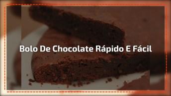 Receita De Bolo De Chocolate Mais ´Rápida E Fácil De Fazer, Fica Uma Delicia!