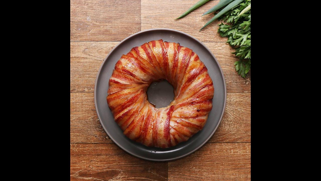 Receita de bolo de frango com Bacon