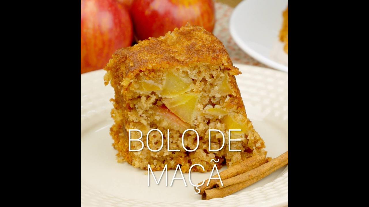 Receita de bolo de maçã