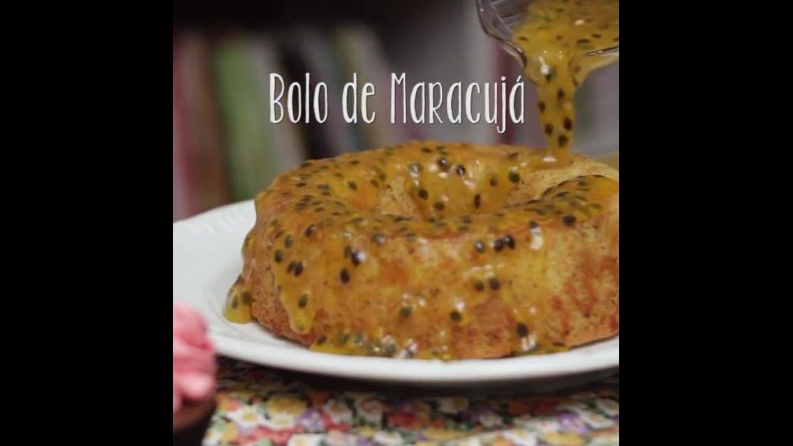 Receita de Bolo de Maracujá Vegano