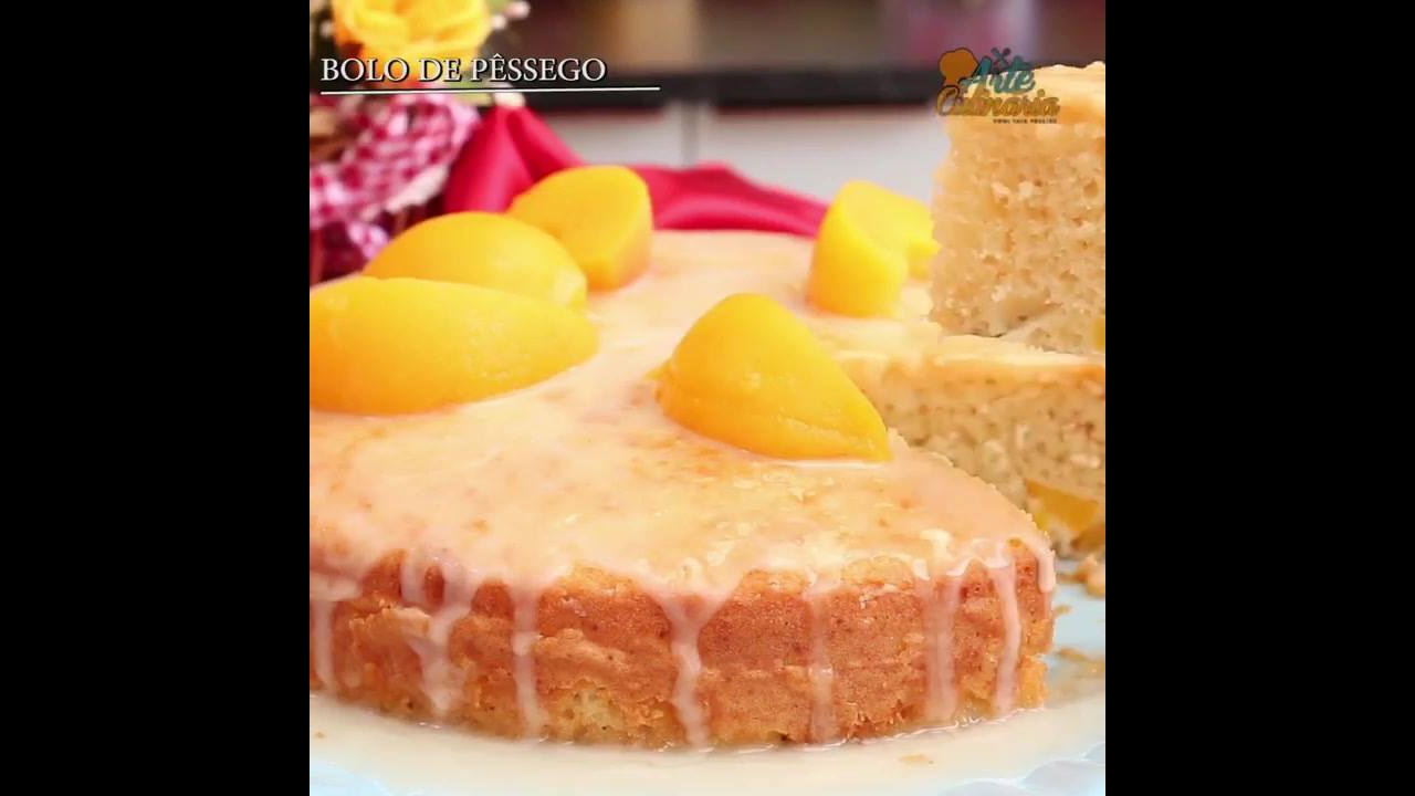 Receita de bolo de Pêssego