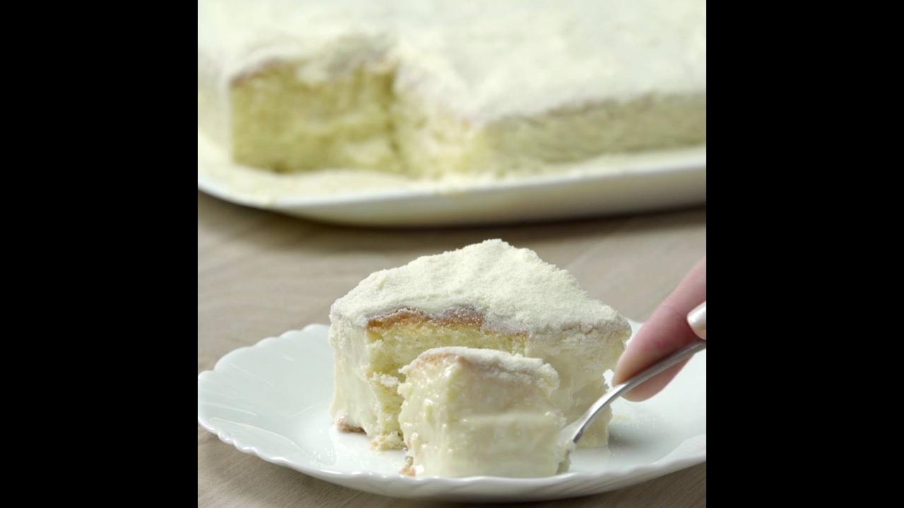 Receita de bolo gelado de leite em pó