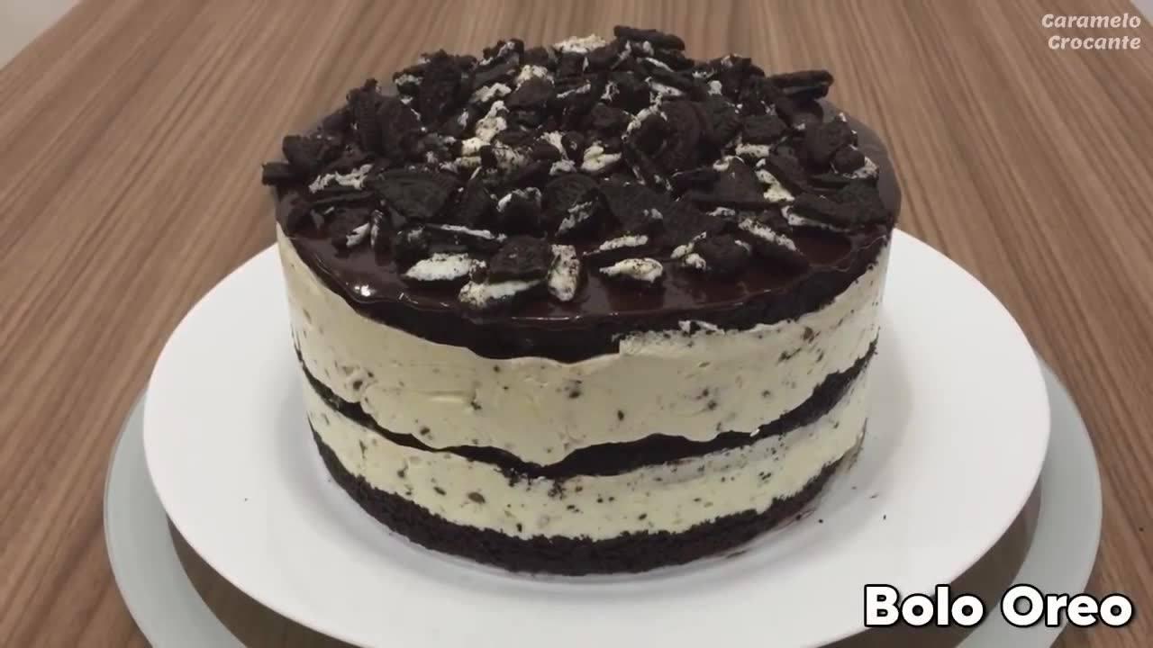 Receita de bolo Oreo, como não se apaixonar por essa delicia