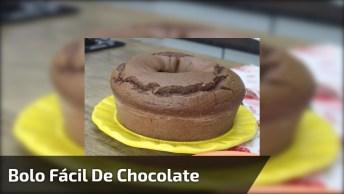 Receita De Bolo Super Fácil De Chocolate, Bora Ver Ver Como Fazer Esta Delicia!