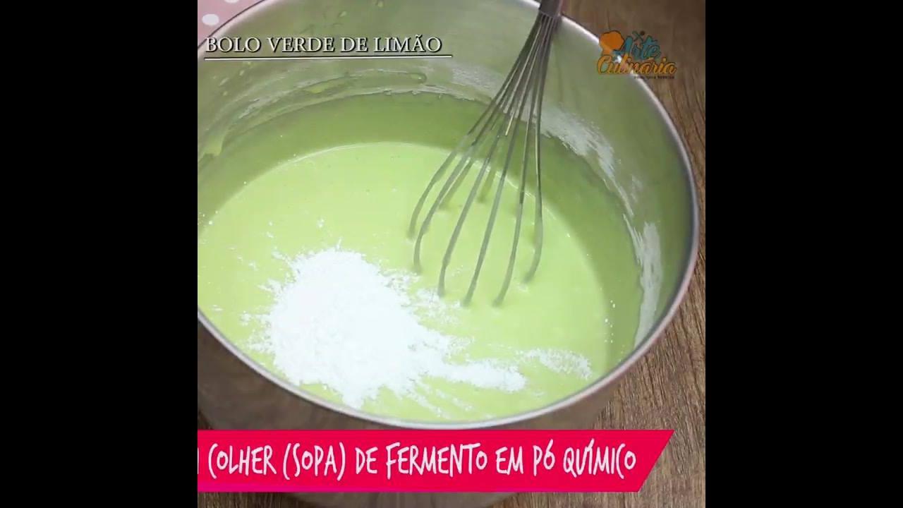 Receita de bolo verde limão