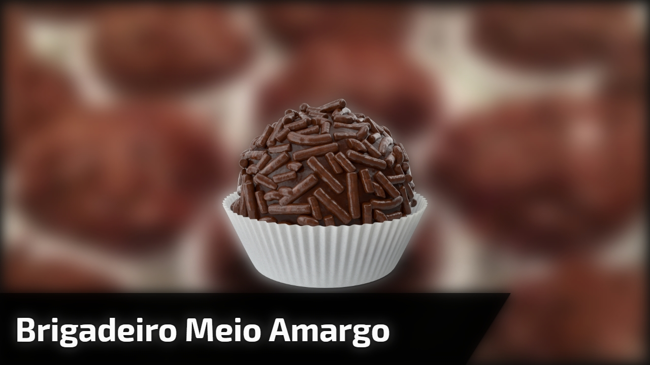 Brigadeiro Meio Amargo