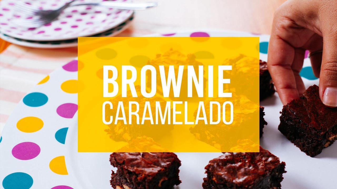 Receita de Brownie Caramelizado
