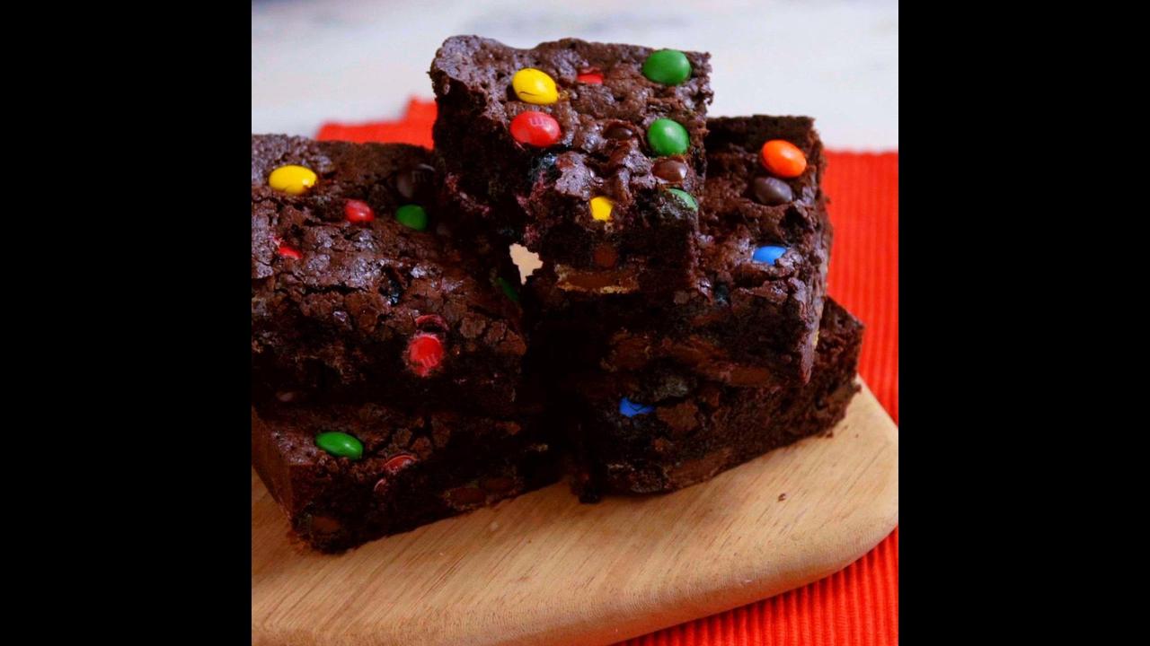 Receita de Brownie com M&M s