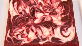 Receita De Brownie De Veludo Vermelho, Olha Só Que Delicia!