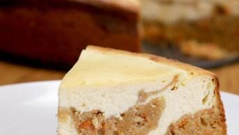 Receita De Cheesecake De Bolo De Cenoura, Uma Combinação Perfeita!
