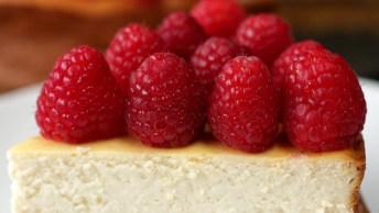 Receita De Cheesecake De Framboesa - Uma Sobremesa Super Chique!