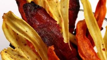 Receita De Chips Saudáveis Para Toda Família, Simplesmente Perfeito!