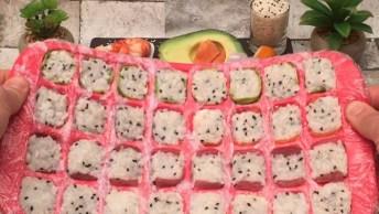 Receita De Como Fazer Sushi Em Um Minuto, Olha Só Que Legal!