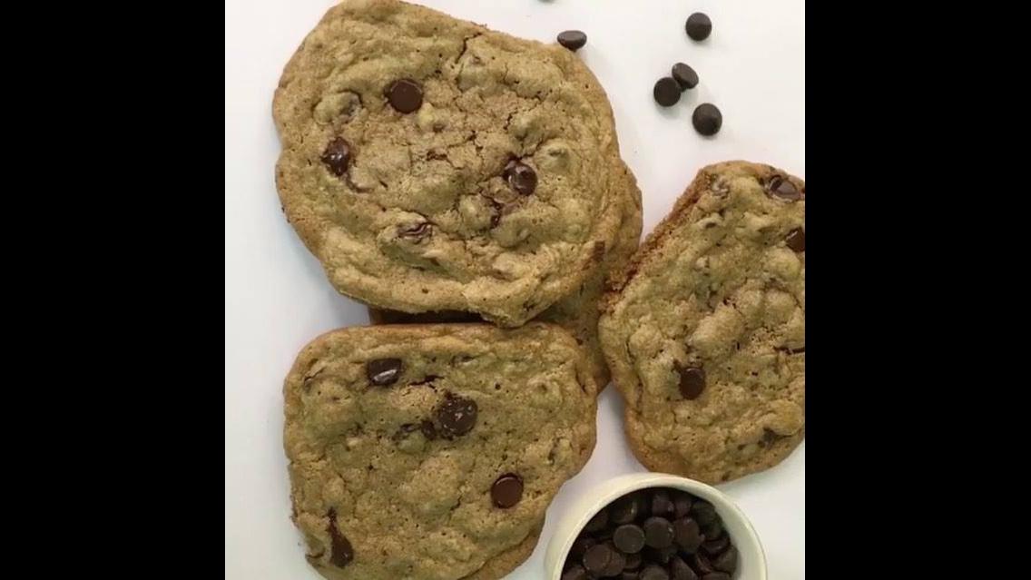 Receita de cookies americano