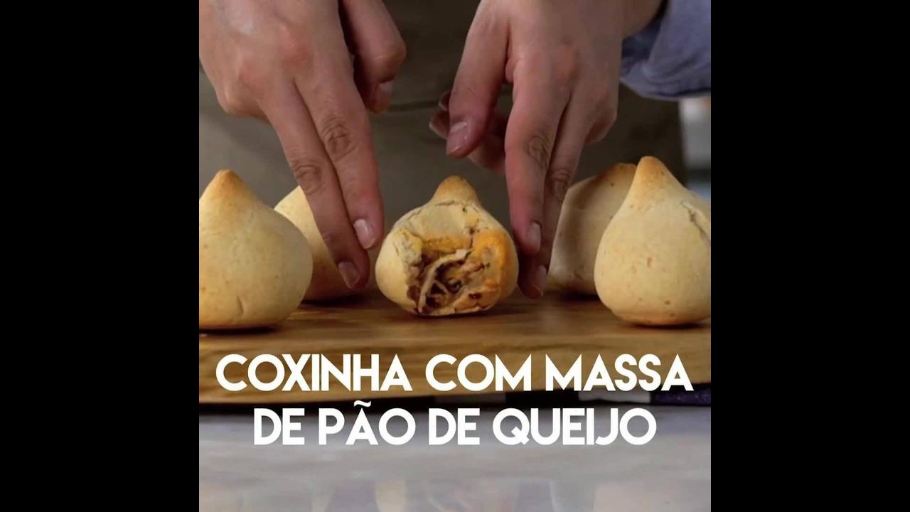 Receita de coxinha com massa de pão de queijo