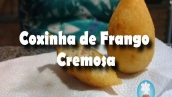 Receita De Coxinha De Frango Cremosa - Um Salgado Super Leve!