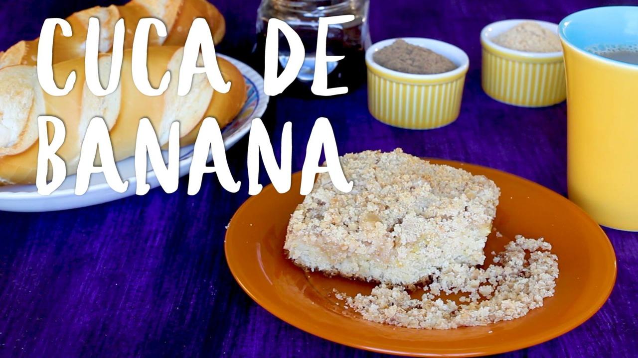 Receita de Cuca de Banana, um bolo típico catarinense, confira!